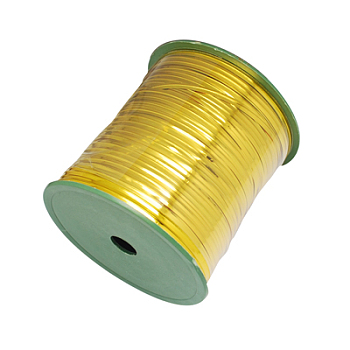 Wire Twist Ties, with Iron, Gold, 4mm, 280yards/roll