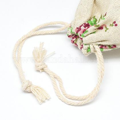 ポリコットン(ポリエステルコットン)パッキングポーチ巾着袋ABAG-T004-10x14-10-1