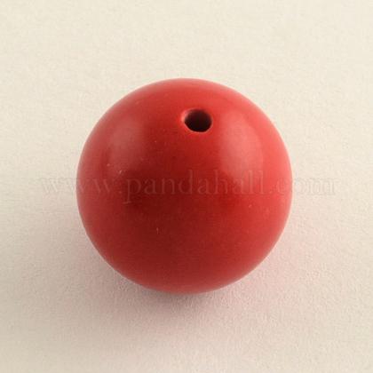 Round Cinnabar BeadsX-CARL-Q002-8mm-1