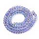 Brins de perles de verre peintes à la bombe givréeGLAA-N035-03A-C05-2