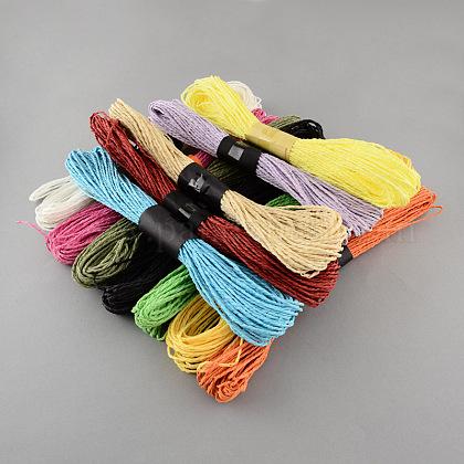 Color mezclado cable de papel trenzadoDIY-S003-03-50m-1