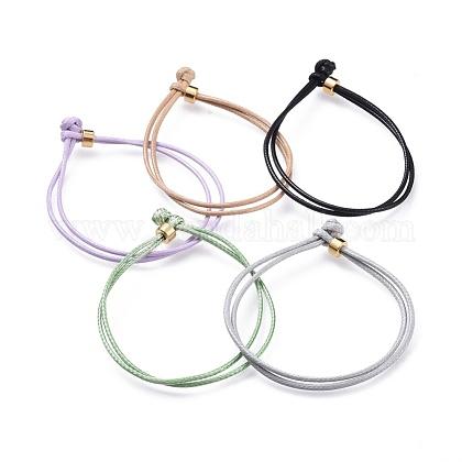 Pulseras de cordón de poliéster encerado coreano unisexBJEW-JB04597-1