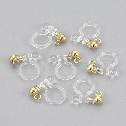 Plastic Clip-on Earring Findings X-KY-S155-03B-1