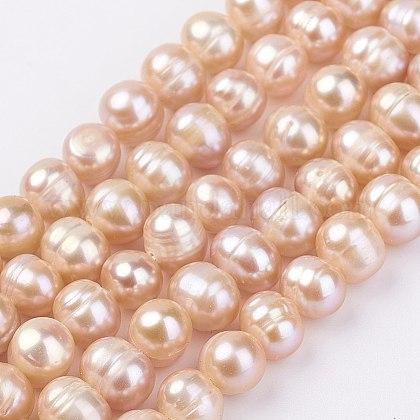 Hebras de perlas de agua dulce cultivadas naturalesPEAR-D187-36-1