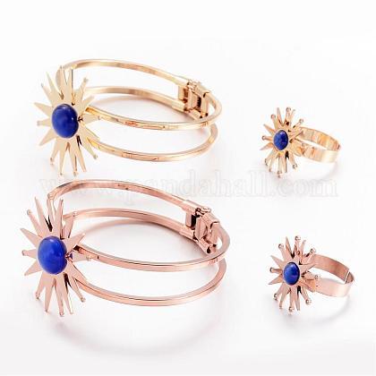304 Stainless Steel Jewelry SetsSJEW-G029-04-1