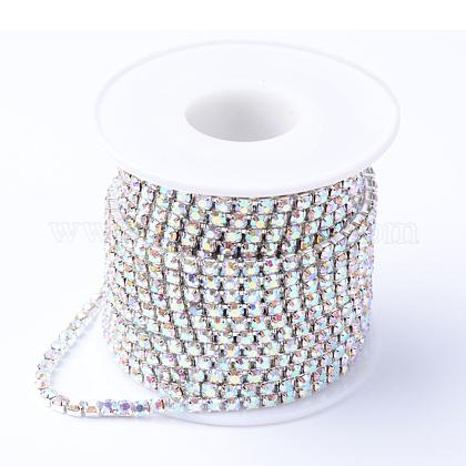 Cadenas de strass Diamante de imitación de bronceCHC-T001-SS6-02S-1