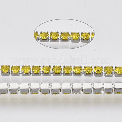 304 acero inoxidable cadena de strass de rhinestoneSTAS-T055-11P-1
