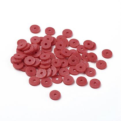 手作り樹脂粘土ビーズCLAY-R067-6.0mm-30-1