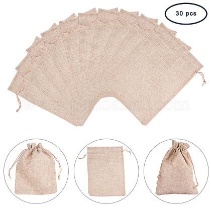 Burlap Packing Pouches Drawstring BagsABAG-PH0002-15-17x23-1