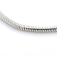 304 Stainless Steel European Style Round Snake Chains Bracelets STAS-J015-01-2