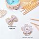 Accesorios para el cabello de encaje de bowknot y accesorios de disfraces tejidos con cordón de cáñamo hechos a manoPH-DIY-G005-70-2