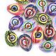 Perlas de concha de cowrie impresasSSHEL-T007-15-1