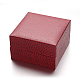 Square PU Leather Jewelry Boxes for WatchCON-M004-06-1