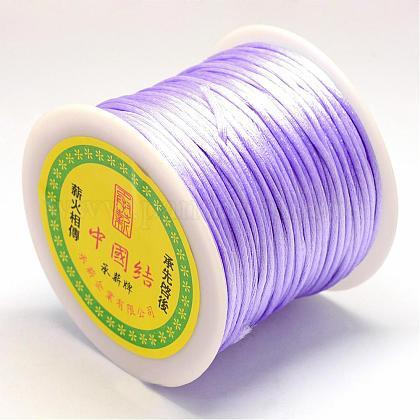 ナイロン糸  ラットテールサテンコード  紫色のメディア  1.0mm  約76.55ヤード(70m)/ロールNWIR-R025-1.0mm-672-1