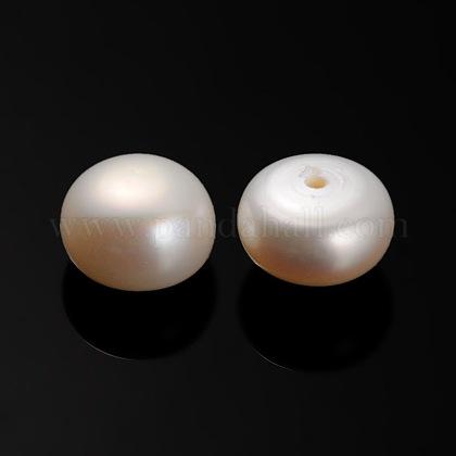 Perlas naturales abalorios de agua dulce cultivadasPEAR-E001-10-1
