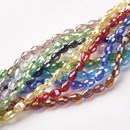 Abalorios de vidrio electroplateGC885Y-1