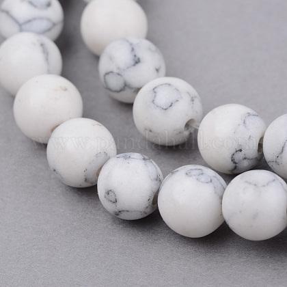 Chapelets de perle en howlite synthétiquesG-Q462-8mm-26-1-1