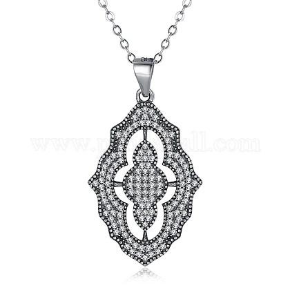 Tailandeses 925 collares pendientes de plata de leyNJEW-BB32725-1
