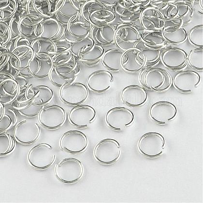 Anillos de salto abierto de alambre de aluminioALUM-R005-1.0x8-01-1