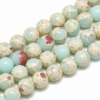 Synthetic Imperial Jasper Beads StrandsG-S300-41A-10mm-1
