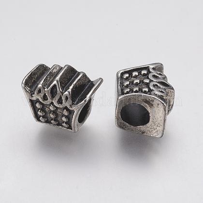 304 Stainless Steel European BeadsSTAS-J022-085AS-1