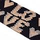 Cuentas de vidrio ajustable pulseras de cuentas trenzadas para el día de san valentínBJEW-D442-19-3