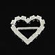 Corazón brillante de la boda invitación de la cinta hebillasRB-S019-06-2