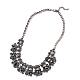Mujeres de la moda de joya de zinc collares del collar de rhinestone de cristal de aleación babero declaración gargantillaNJEW-BB15143-D-1