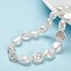 Hebras de perlas keshi de perlas barrocas naturalesPEAR-K004-33-1