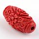 Perles de cinabre sculptéesCARL-Q004-76C-5