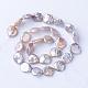 Hebras de perlas keshi de perlas barrocas naturalesPEAR-S010-38-2