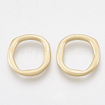 Smooth Surface Alloy Linking Rings, Ring, Matte Gold Color, 15x14.5x2mm
