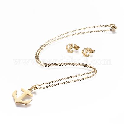 Conjuntos de joyería de 304 acero inoxidableSJEW-P159-05G-1