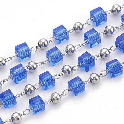 Handmade Glass Beaded ChainsCHS-S002-03-1