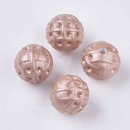 Supports de strass perle acrylique opaque peint par pulvérisationMACR-T035-010C-1