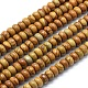 Natural Wood Lace Stone Beads Strands G-E507-04A-6mm-1