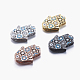 Long-Lasting Plated Brass Micro Pave Cubic Zirconia Pendants ZIRC-L072-35-1