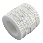 Cordones de hilo de algodón encerado, blanco, 1 mm; aproximamente 100 yardas / rodillo