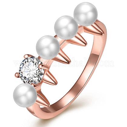 Imitation Pearl Finger RingsRJEW-BB17615-8-1