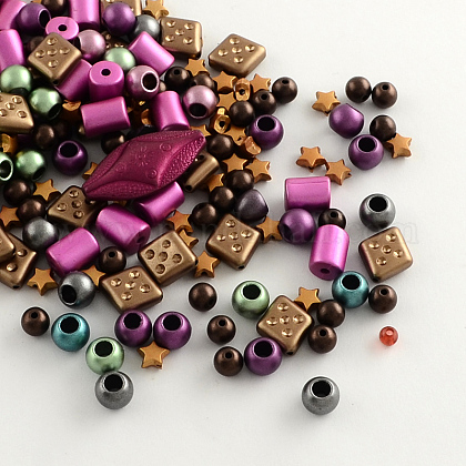 Mixed Acrylic Beads MACR-R546-30-1