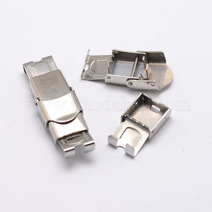 Rectangle 304 Stainless Steel Watch Band ClaspsSTAS-N076-09-1