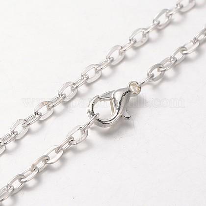 Iron Cable Chain Necklace MakingMAK-J004-28S-1