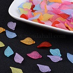 Transparent Acrylic Pendants, Frosted, Leaf, Mixed Color, 18x11x3mm, Hole: 2mm; about 1877pcs/500g