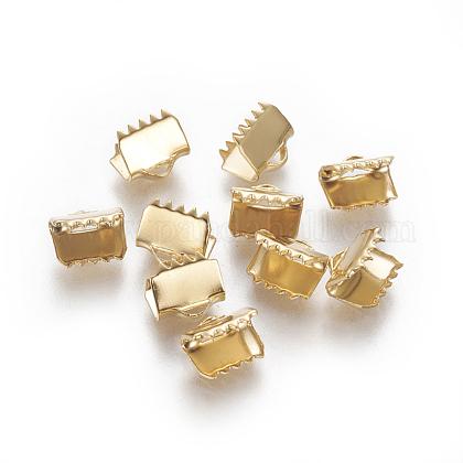 304ステンレス鋼リボンカシメエンドパーツSTAS-E471-05C-G-1