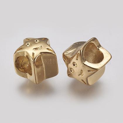 304 Stainless Steel European BeadsSTAS-J022-080G-1