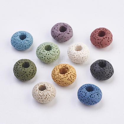 Perles européennes en lave naturelleG-E477-A-1