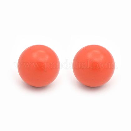 Нет отверстия спрей окрашены латунные круглый шар шарики подходят клетки подвескиKKB-J001-16-1