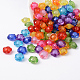 Mixed Color Transparent Faceted Flower Acrylic BeadsX-TACR-S104-M-1
