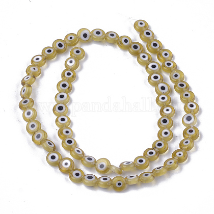 Chapelets de perles vernissées manuellesLAMP-S191-02A-07-1