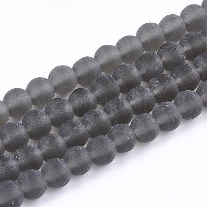 Chapelets de perles en verre transparente  GLAA-Q064-15-6mm-1